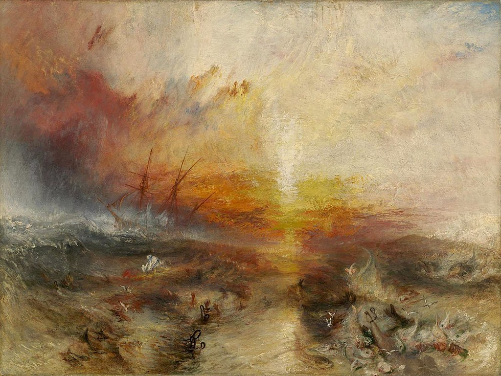 Ekphrastic poems have been written about this painting, The Slave Ship.