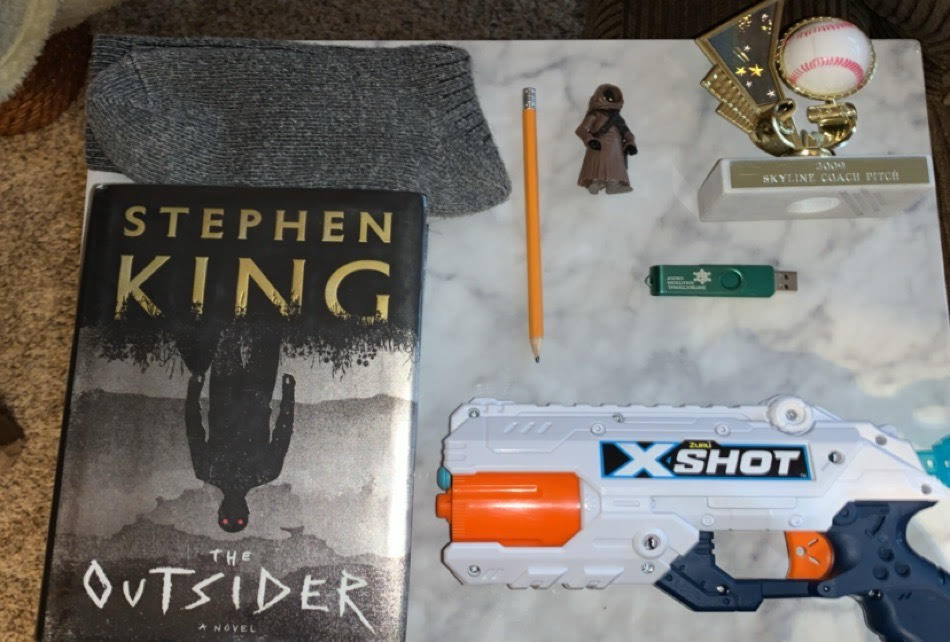 A book bento for The Outsider by Stephen King