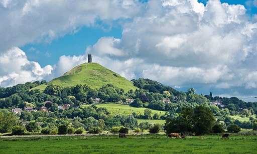 Glastonbury Tor is a possible burial site of King Arthur.