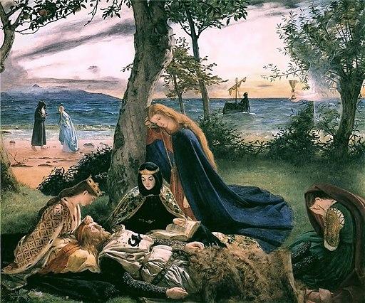 The Death of KIng Arthur by James Arthur, 1860.