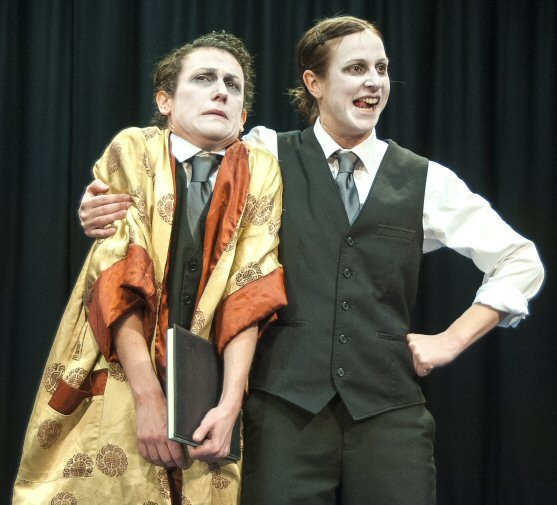 Actors perform Everyman, the Morality Play