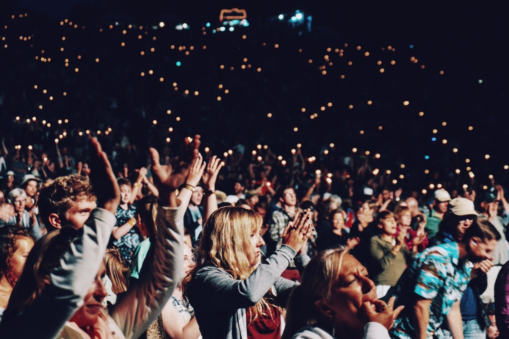An audience clapping reminds me of how I clap... a form of my own brand of teacher self-care.