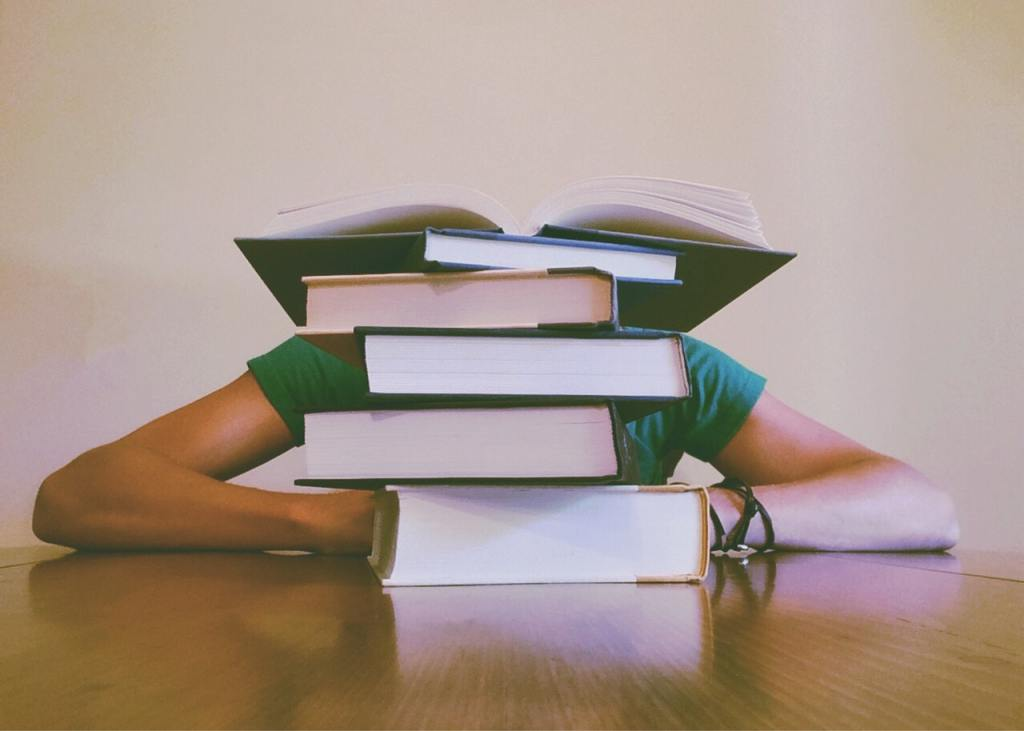 When high school students hide behind a stack of books, it causes teachers to need teacher self-care.