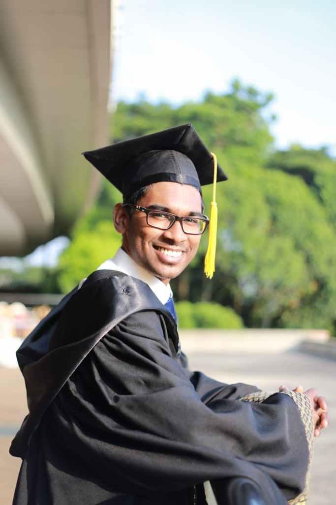 A picture of a high school graduate.