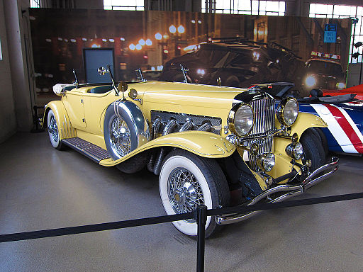A photo of the yellow car Gatsby drove in the 2013 movie, The Great Gatsby