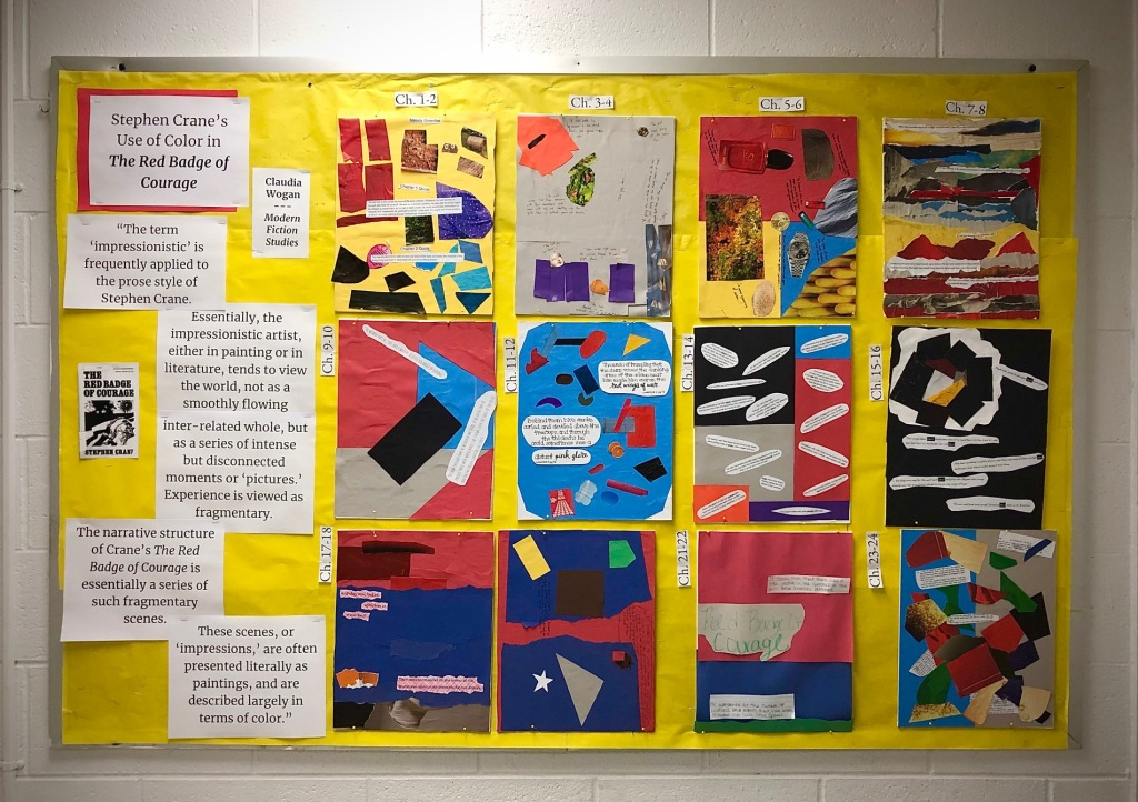The Red Badge of Courage Color Analysis Bulletin Board