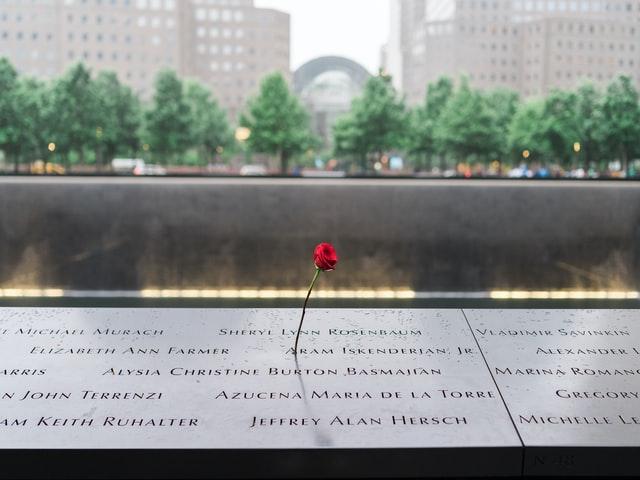 A 9/11 memorial at the National September 11 Memorial & Museum