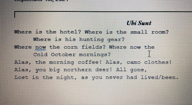 student-written poem