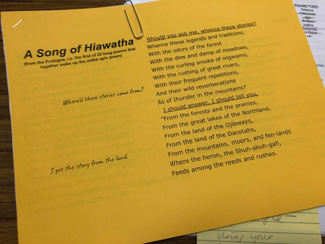 Song of Hiawatha by Longfellow